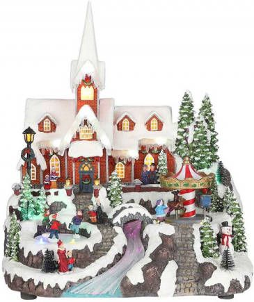 Luville Winter village with church adapter included l32xw30xh40cm online kopen