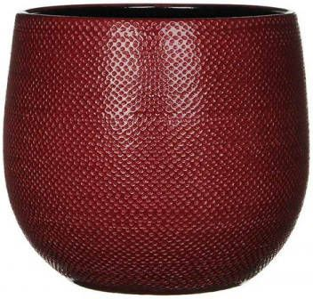 Mica Decorations gabriel ronde pot bordeaux maat in cm: 25 x 29 BORDEAUX online kopen